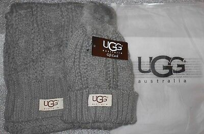UGG knited winter hat & scarf set -  gray - new with tags