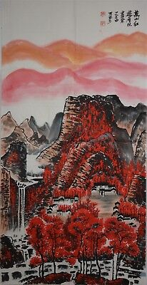 Magnificent Large Chinese Painting Signed Master Li Keran No Reserve R5566