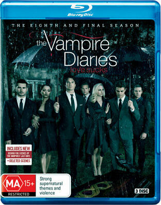 The Vampire Diaries: Season 8 (Final Season) = NEW Blu-Ray Region B