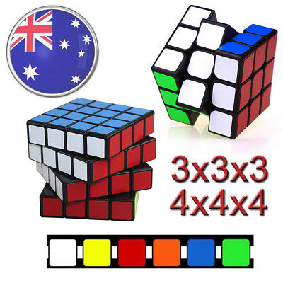 Magic Cube 3x3x3 4x4x4 Super Smooth Fast Speed Rubix Rubik Puzzle Competition