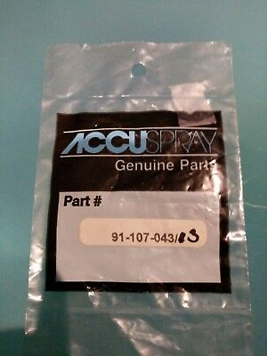 accuspray genuine HVLP Delring tips , 91-107-043/3 one missing from bag.