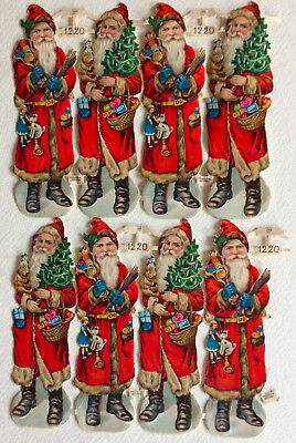 8 antique Dye Cut SANTA CLAUSES