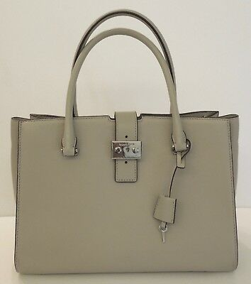NWT MICHAEL KORS Studio Bond Large Satchel Pebled leather