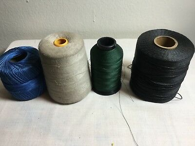 4 thread spools large full sewing overlock embroidery thick