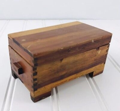1924 Small Wooden Toy Box, Clothes Chest, Dollhouse furniture Handmade