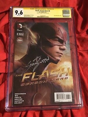 Cgc Ss 9.6~Flash Season Zero #6~Photo Cover~Signed By Grant Gustin~Cw Tv Show