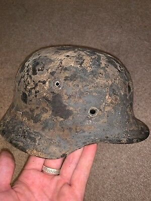 Lovely ground dug relic - KM or Luftwaffe Blue Great solid relic!