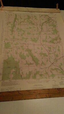 Vintage 1944 Ossian NY Quadrangle Geological Survey Map War Dept WWII Adirondack