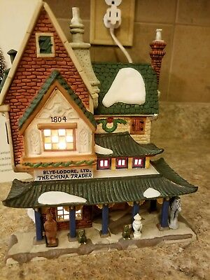 """Dept 56 Dickens Village  THE CHINA TRADER"""" #58447 w. Fine Asian Antiques 58462"""