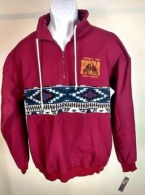 Rodeo America PRCA Mens 3/4 Zip up Pull Over NWT Sz XL Beautiful Condition