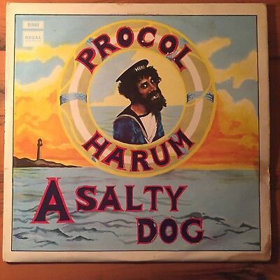PROCOL HARUM A Salty Dog LP Original 1969 UK Stereo Regal Zonophone VG+ SLRZ1009