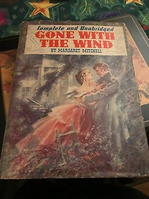 Vintage 1940 Gone with the Wind Hardback Motion Picture Edition Book