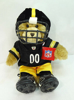 Build A Bear Workshop Nfl Pittsburgh Steelers Gift Set W/ Squeezable Sound