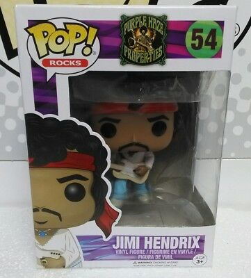 Funko Pop Rocks Purple Haze Properties Jimi Hendrix # 54.