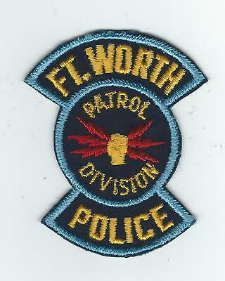 """VINTAGE FT WORTH, TEXAS POLICE """"PATROL DIVISION"""" (CHEESE CLOTH BACK) patch"""