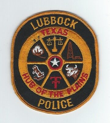 VINTAGE LUBBOCK, TEXAS POLICE (CHEESE CLOTH BACK) patch