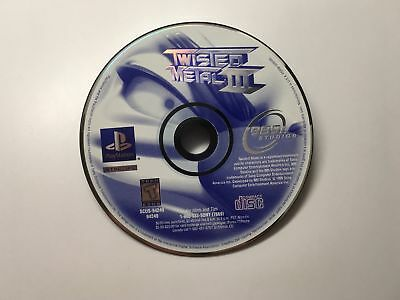 Twisted Metal Iii - Playstation 1 Ps1 Game Only *cleaned, Tested And Works!*
