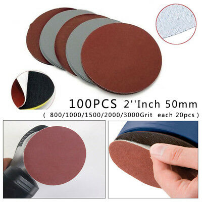 Sanding Paper Discs Compound 25pcs Hook&Loop 50mm 800 1000 1500 2000 3000 Sand