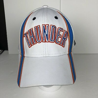 c80abb9429bf2 ADIDAS OKLAHOMA CITY Thunder Cap Adjustable Slouch Flex Fit Hat ...