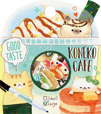"Crux ""Koneko Cafe"" (""Cat Cafe"") Sack o' Stickers (Cats, Coffee)"