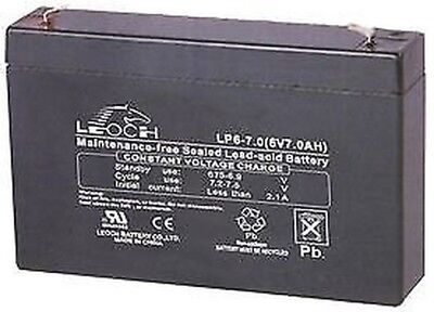 Pile Plomb Acide AGM 6V 7AH Batteries Rechargeable - CM85586