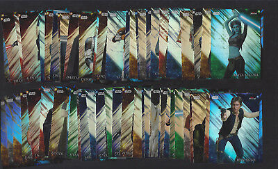 2018 Topps Finest Star Wars Base Refractor 63-Card Lot W/ No Dupes!