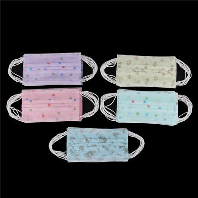 BD_10Pcs Colorful Disposable Medical Dust Mouth Surgical Face Masks Respirator