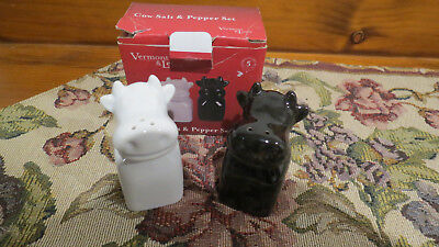 Vermont & Lewis Cow Shaped  Salt & Pepper Shakers