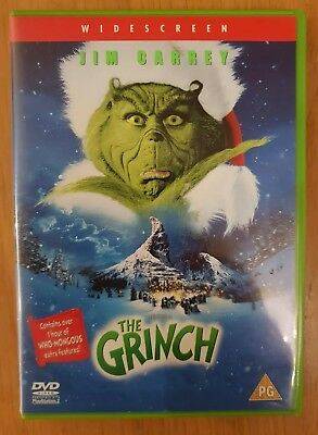 THE GRINCH (DVD, 2001) Jim Carrey Dr Seuss How Stole Christmas
