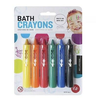 Bath Crayons Write On Wipe Off Washes Off With Water Fun Bath Time Craft Toy