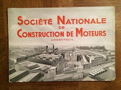 Brochure  Societe Nationale De Construction De Moteurs Argenteuil   1938