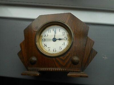Art Deco Mantel Clock Wooden needs attention see similar