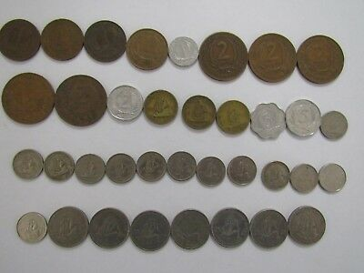 Lot of 36 Different British & East Caribbean Coins - 1955 to 2004 - Circulated