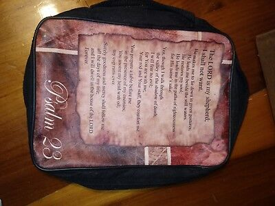United Treasures Bible Cover Carrying Case Psalm 23 Lord's Prayer Canvas Black