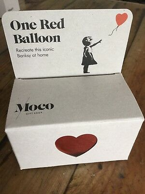 Banksy rare one red balloon Ballon rouge moco museum Dismaland Street Art