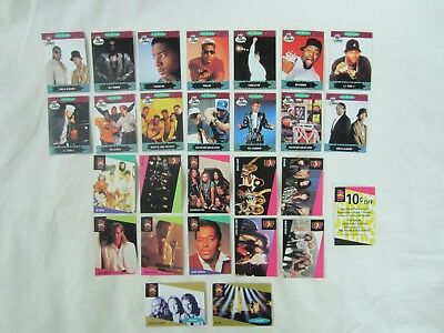 27 ProSet Music Cards including 14 Rap Artists and a Discount Card
