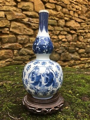 CHINESE PORCELAIN.authentic and old vase double gourd wanli transition.17Th.