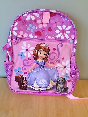 NWT Disney store Sofia the First Backpack Girls