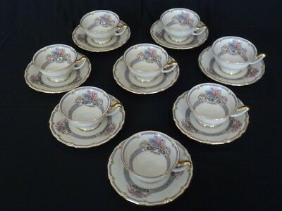 Vintage Thomas Ivory Bavaria China Tea Cups and Saucers - Excellent Condition