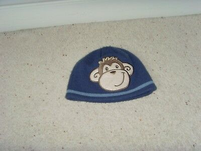 Baby Boys' Monkey Hat Blue Fits 1-2 Years