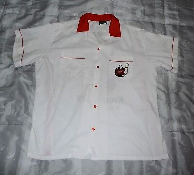 Men's 1950s Vintage Look Red/White Miller High Life Beer Bowling Style Shirt