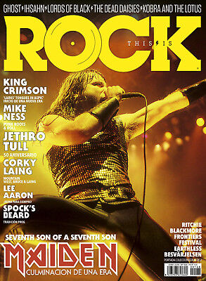 This is Rock Magazine Spain Issue 168 June 2018 BRUCE DICKINSON COVER MAIDEN