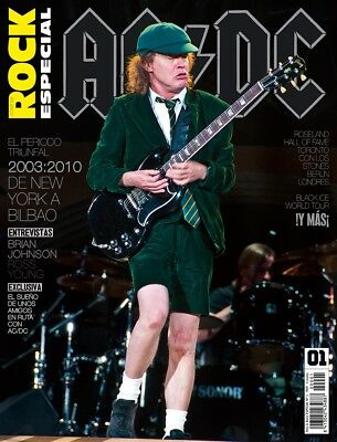 AC/DC FULL SPECIAL MAGAZINE This is Rock Spanish + 3 Posters - ANGUS YOUNG COVER