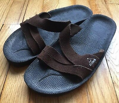 9252b2c0d2ed16 Rare Men s Nike ACG Hiking Slide Sandals Shoes Size 9 Brown Leather Outdoor