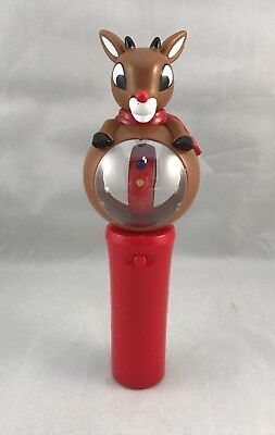 Lighted Spinner Toy Rudolph the Red-Nosed Reindeer Christmas CUTE Lights Up
