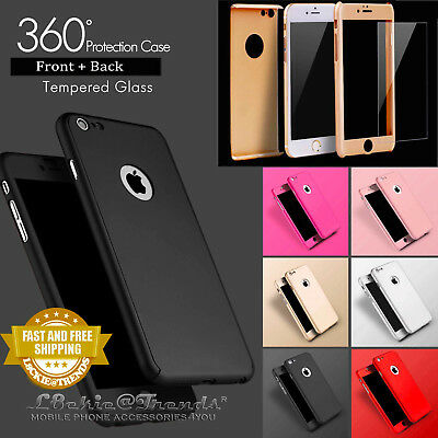 Luxury Ultra Slim Hybrid Silicone 360 Shockproof Case Cover for iPhone Phones
