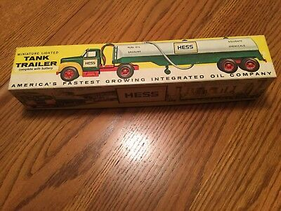 1964 Marx Hess Toy Tanker Truck in Original Box with Green Box Bottom Great