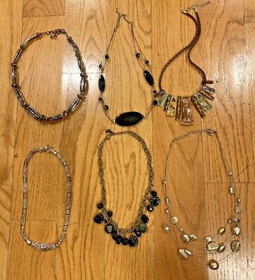 L@@k! Vintage Avon Necklaces Lot Estate Jewelry Six Assorted Styles Metal Beads
