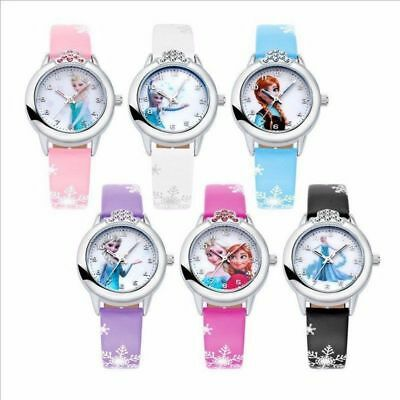 Disney Frozen Elsa & Anna Children Girls Kids Quartz Rhinestone Wrist Watch