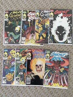 GHOST RIDER 8 Comic Lot - 1990, #7, 8, 11, 15, 16, 17, 18, 19 Bagged/Board LOOK!